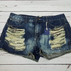 NWT Forever 21 Distressed Cut Off Shorts
